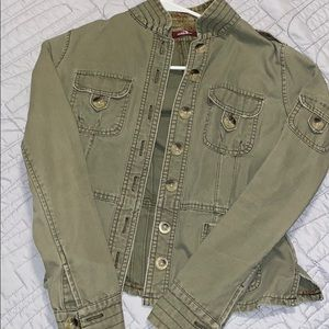 Juniors military style jacket.
